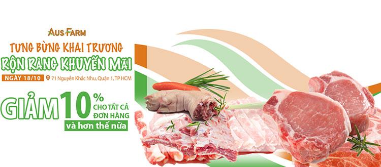 thịt heo hữu cơ, thịt heo sạch